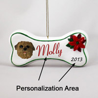 Norfolk Terrier Bone Ornament (Personalize-It-Yourself)