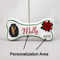 Gordon Setter Bone Ornament (Personalize-It-Yourself)