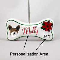 Basenji Bone Ornament (Personalize-It-Yourself)