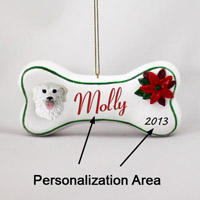 Kuvasz Bone Ornament (Personalize-It-Yourself)