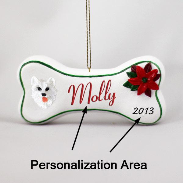 American eskimo bone ornament personalize it yourself m4hsunfo