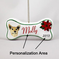 Australian Cattle Red Dog Bone Ornament (Personalize-It-Yourself)