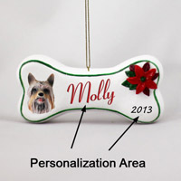 Silky Terrier Bone Ornament (Personalize-It-Yourself)