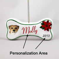 Border Terrier Bone Ornament (Personalize-It-Yourself)