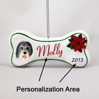 Bearded Collie Bone Ornament (Personalize-It-Yourself)