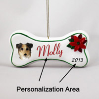 Australian Shepherd Blue w/Docked Tail Bone Ornament (Personalize-It-Yourself)