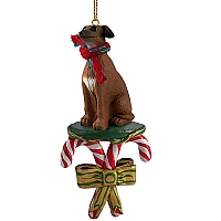 Italian Greyhound Candy Cane Ornament