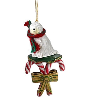 Komondor Candy Cane Ornament