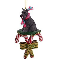 Schnauzer Black Candy Cane Ornament