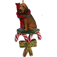 Bloodhound Candy Cane Ornament