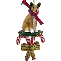Basenji Candy Cane Ornament