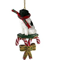 Landseer Candy Cane Ornament