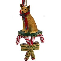 Australian Cattle Red Dog Candy Cane Ornament