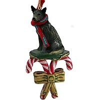Australian Cattle BlueDog Candy Cane Ornament