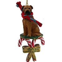 Bullmastiff Candy Cane Ornament