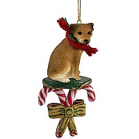 Border Terrier Candy Cane Ornament