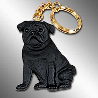 Pug Black Best Friends Key Chains