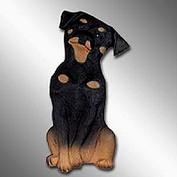 Rottweiler Best Friends Magnet