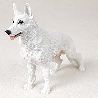 German Shepherd White Standard Figurine