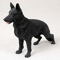 German Shepherd Black Standard Figurine