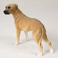 Great Dane Fawn w/Uncropped Ears Standard Figurine