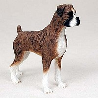 Boxer Brindle w/Uncropped Ears Standard Figurine