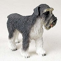 Schnauzer Gray w/Uncropped Ears Standard Figurine