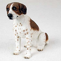 Pointer Brown & White Standard Figurine