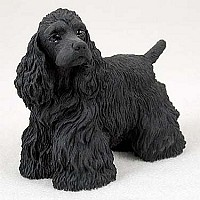 Cocker Spaniel Black Standard Figurine