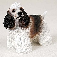 Cocker Spaniel Brown & White Standard Figurine