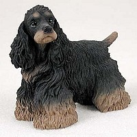 Cocker Spaniel Black & Brown Standard Figurine