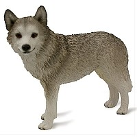 Husky Gray & White w/Brown Eyes Standard Figurine