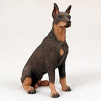 Doberman Pinscher Red w/Cropped Ears Standard Figurine