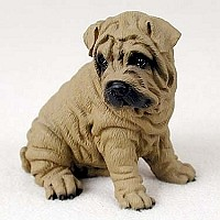 Shar Pei Brown Standard Figurine
