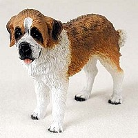 Saint Bernard w/Rough Coat Standard Figurine