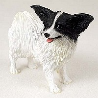 Papillon Black & White Standard Figurine