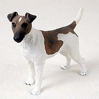 Fox Terrier Brown & White Standard Figurine