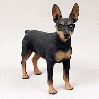 Miniature Pinscher Tan & Black Standard Figurine