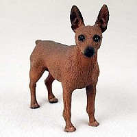 Miniature Pinscher Red & Brown Standard Figurine