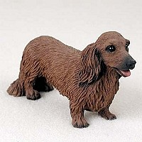 Dachshund Longhaired Red Standard Figurine