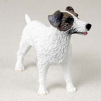 Jack Russell Terrier Brown & White w/Rough Coat Standard Figurine