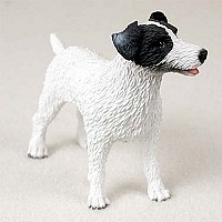 Jack Russell Terrier Black & White w/Rough Coat Standard Figurine