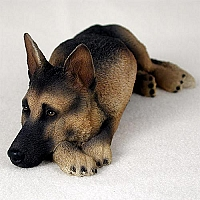 German Shepherd Tan & Black My Dog Figurine