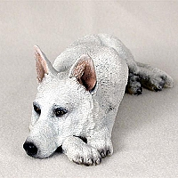 German Shepherd White My Dog Figurine