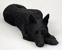 German Shepherd Black My Dog Figurine