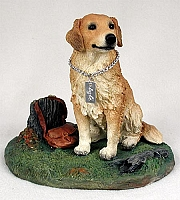 Golden Retriever w/Stump My Dog Figurine