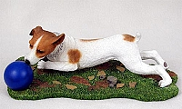 Jack Russell Terrier Brown & White w/Smooth Coat w/Ball My Dog Figurine