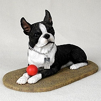 Boston Terrier My Dog Figurine