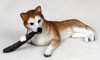 Husky Red & White w/Blue Eyes My Dog Figurine