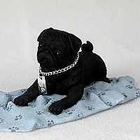 Pug Black My Dog Figurine